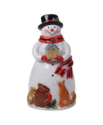 Магия Рождества Снеговик Cookie Jar Santa Certified International