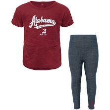 Girls Toddler Crimson Alabama Crimson Tide T-Shirt and Leggings Set Outerstuff