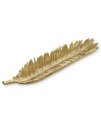 Золотая тарелка для хлеба с саговой пальмой MICHAEL ARAM