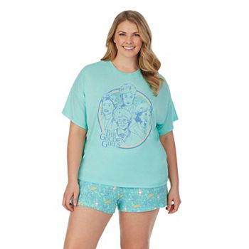 Plus Size The Golden Girls Pajama Top & Pajama Boxers Set Licensed Character