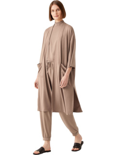Boxy Fine Stretch Jersey Knit Jacket with Elbow Sleeves Eileen Fisher