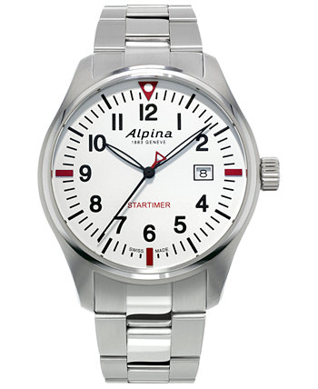 Мужские часы Swiss Startimer Pilot из нержавеющей стали с браслетом, 42 мм Alpina