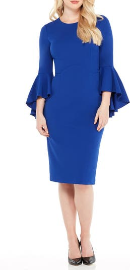 Sasha Bell Sleeve Midi Dress Maggy London