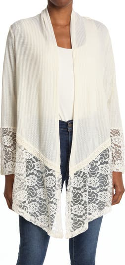 Knit Crochet Lace Trim Duster Forgotten Grace