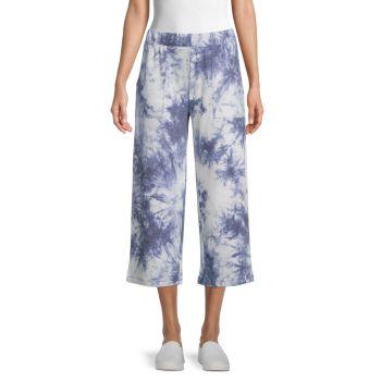 Широкие махровые брюки Pure Navy
