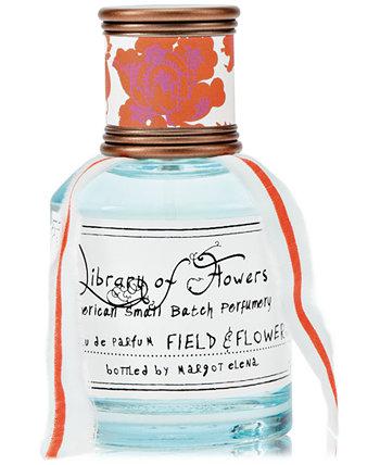 Field & Flowers Eau de Parfum, 1,69 унции. Library of Flowers