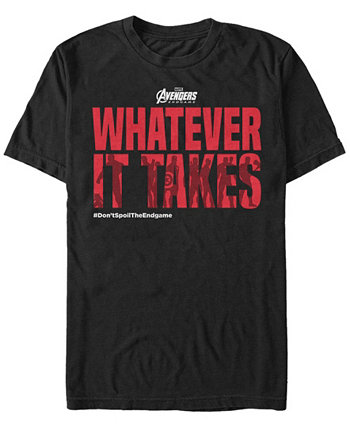 Мужская футболка с короткими рукавами и надписью Avengers Endgame Whatever It Takes Text Marvel