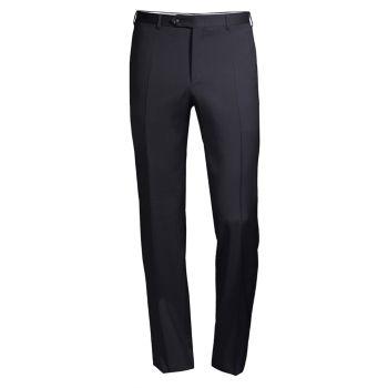 Шерстяные брюки приталенного кроя Canali