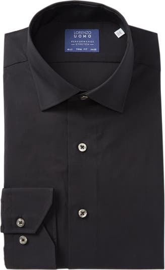 Дорожная классическая рубашка из хлопка с эластичной отделкой Lorenzo Uomo