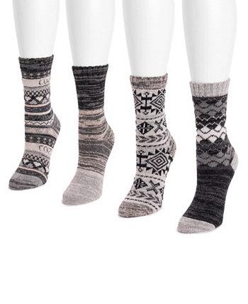 Набор женских носков Fairisle Crew из 4 пар MUK LUKS