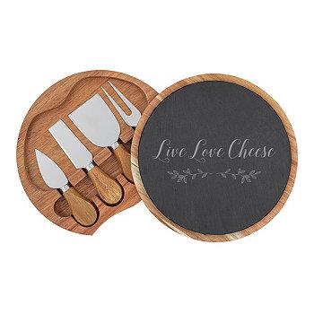 Сырный сланец Live Love и сырная доска из акации с посудой Cathy's Concepts