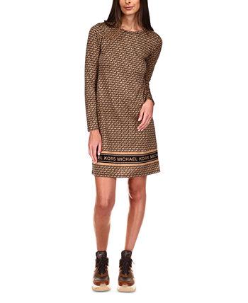 Платье-футболка с принтом логотипа, стандартное и миниатюрное Michael Kors