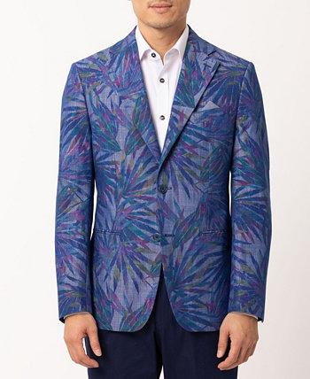 Мужской пиджак приталенного кроя в тропическом стиле Tallia