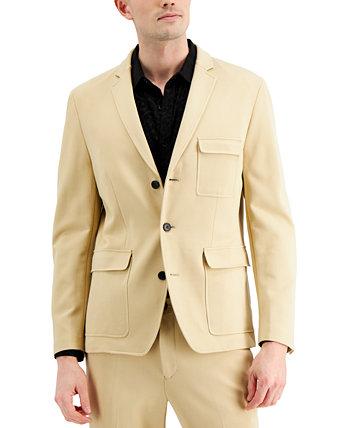 Мужской пиджак Ponte Slim-Fit Utility Blazer от INC, созданный для Macy's INC International Concepts
