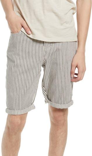 Полосатые шорты с манжетами на подоле NATIVE YOUTH
