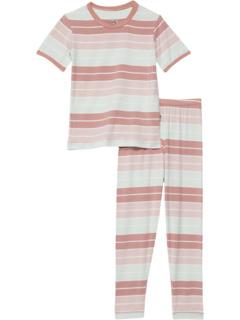 Short Sleeve Pajama Set (Big Kids) Kickee Pants Kids
