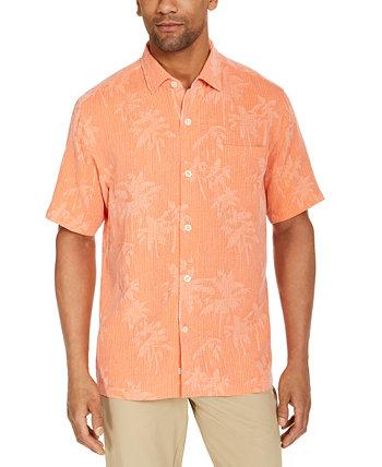 Мужская шелковая рубашка с коротким рукавом и тропическим принтом, созданная для Macy's Tommy Bahama