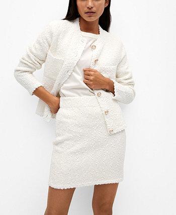 Tweed Miniskirt MANGO