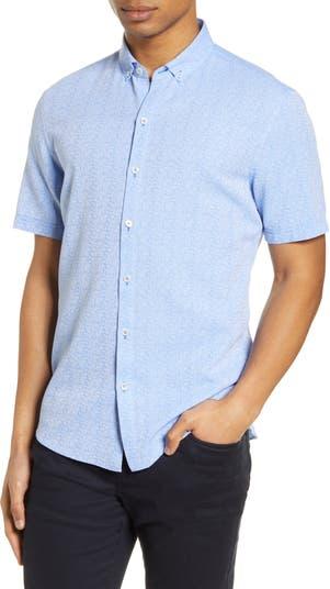 Рубашка на пуговицах с коротким рукавом и цветочным принтом Kinsman Zachary Prell