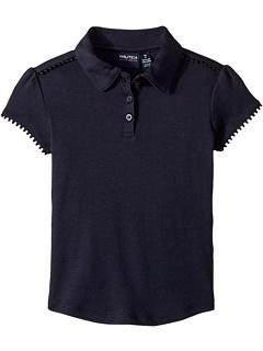 Рубашка-поло с короткими рукавами и интерлоком (для маленьких детей) Nautica Kids