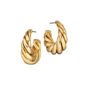 Серьги-кольца Twist Goldtone Oscar de la Renta