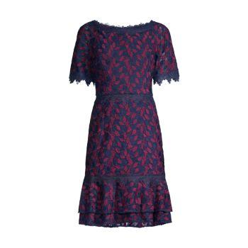 Кружевное платье с открытыми плечами SHANI