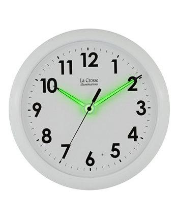 10-дюймовые настенные аналоговые часы с светящимися стрелками La Crosse Illuminations La Crosse Technology