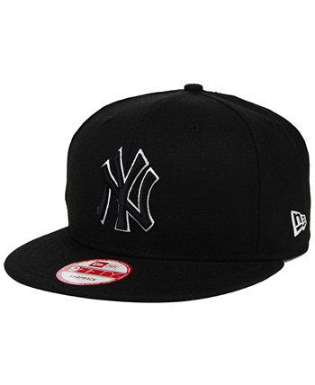 Нью-Йорк Янкиз Черный Белый 9FIFTY Snapback Cap New Era