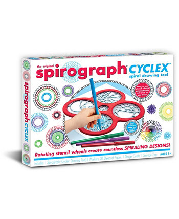 Набор инструментов для рисования в классическом стиле Cyclex Spiral Spirograph
