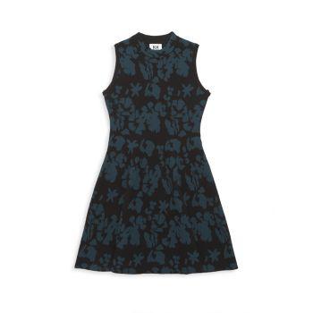 Расклешенное платье с цветочным рисунком для девочек Milly Minis