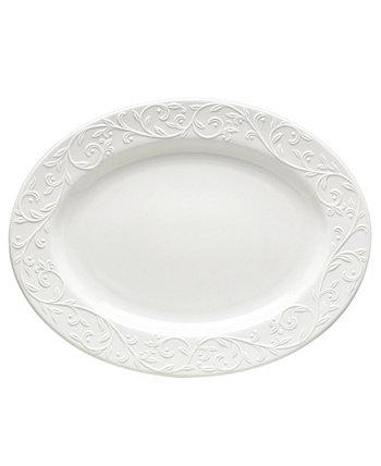 Столовая посуда, Большое овальное блюдо с резьбой Opal Innocence Lenox