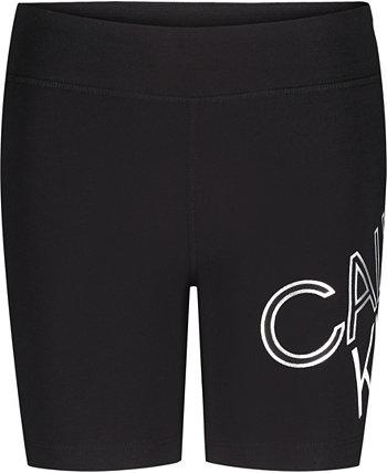 Big Girls Performance Tilt Logo Bike Shorts Calvin Klein