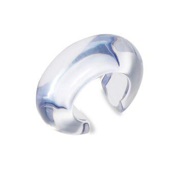 Двухцветный акриловый браслет-манжета с дуговым куполом Lizzie Fortunato