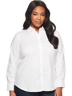 Хлопковая рубашка из поплина плюс размер Ralph Lauren