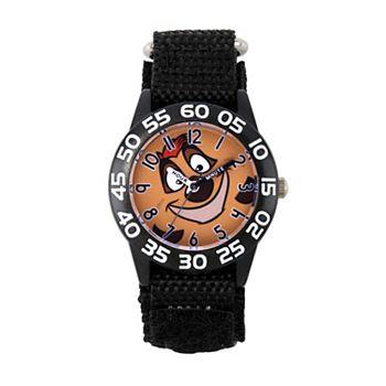 Детские часы Disney's Lion King Timon для учителей Black Time Licensed Character