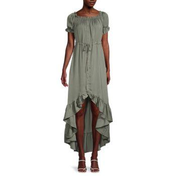 Платье-рубашка с завязками на талии STELLAH