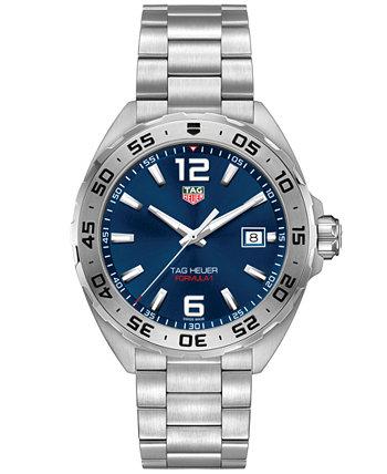 Мужские часы Swiss Formula 1 с браслетом из нержавеющей стали, 41 мм TAG Heuer