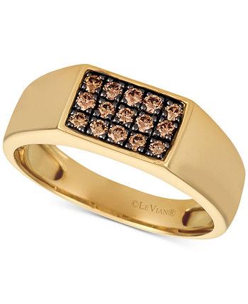 Мужское кольцо с бриллиантом Gentsâ ™ (3/8 карата) из 14-каратного золота Le Vian