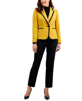Двухцветный брючный костюм Le Suit