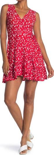 Surplice Floral Ruffle Hem Mini Dress ALL IN FAVOR