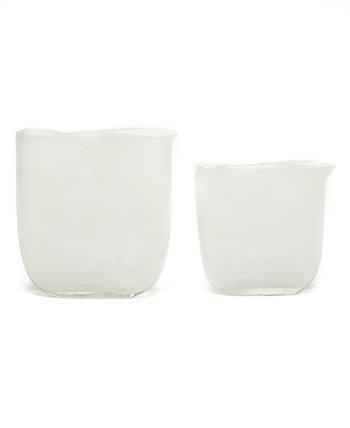 Эллиптические матовые вазы, набор из 2 шт. Two's Company