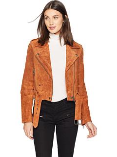 Замша мото куртка Blank NYC