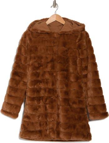Куртка из стриженого искусственного меха с капюшоном KENDALL AND KYLIE
