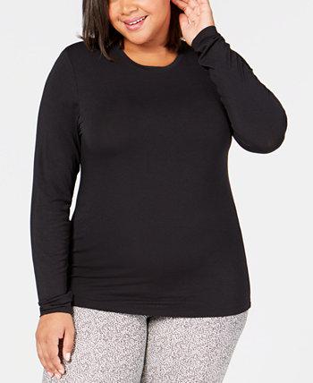 Топ Softwear больших размеров с круглым вырезом Cuddl Duds