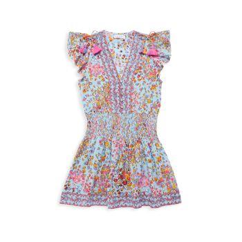 Маленькая девочка & amp; Платье для девочек Rachel со сборками Poupette St Barth