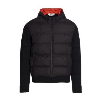 Куртка из переработанных материалов с капюшоном Z Zegna