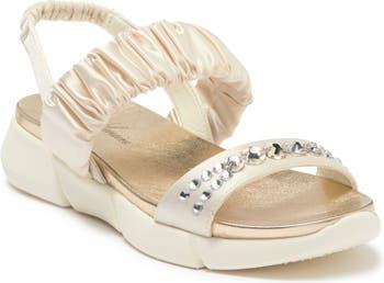 Annie Ruched Sporty Sandal Lauren Lorraine