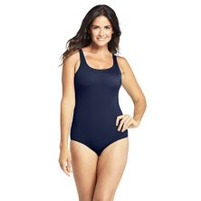 Women's Lands' End Tugless Bust-Minimizer Lined One-Piece Swimsuit Lands' End
