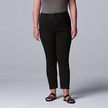 Plus Size Simply Vera Vera Wang High-Waisted Skinny Ankle Jeans Simply Vera Vera Wang