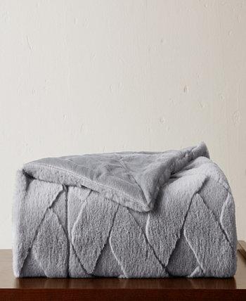 Плед из искусственного меха со скульптурным рисунком VCNY HOME